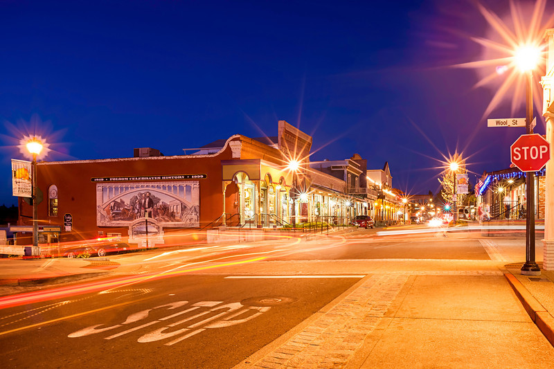 Sutter and Wool Streets, Historic Downtown Folsom, Sacramento County, CA