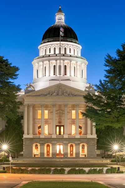 California State Capitol at Dawn, Sacramento, CA
