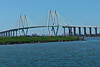 Straight photo of the Fred Hartmann Bridge with the same camera/ tripod rig used for pano.