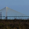 The Fred Hartmann Bridge take from quite a few miles away from the backside of the San Jacinto Monument.