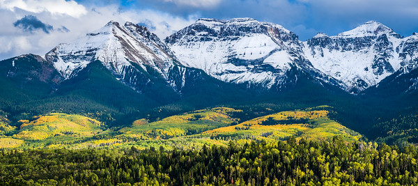 Aspen covered hillsides