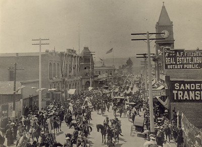 Celebration, likely Fourth of July, on Higuera street, 1905. #1962.656.209