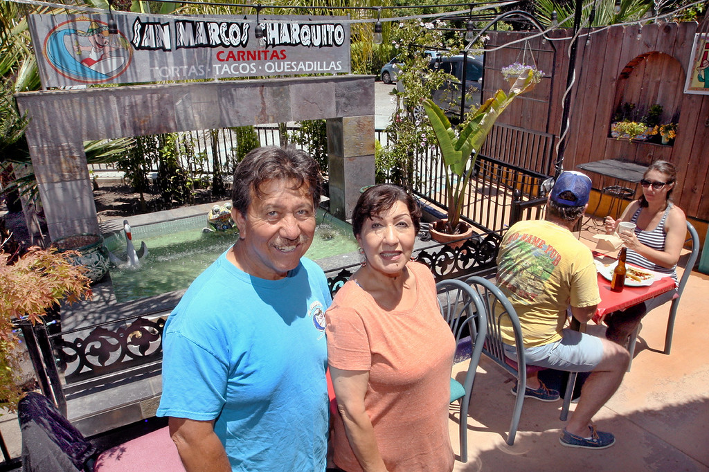 . Manuel an Lupita Monjaraz recently opened the San Marcos Charquito in Capitola.  (Dan  Coyro -- Santa Cruz Sentinel)