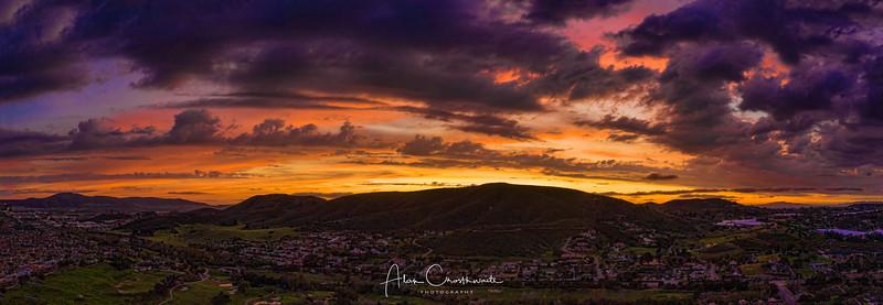 Twin Oaks Sunset