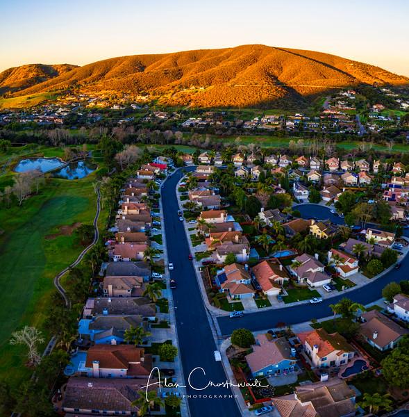 San Marcos sunrise in Twin Oaks Valley