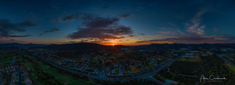 Sunset in San Marcos - giant pano