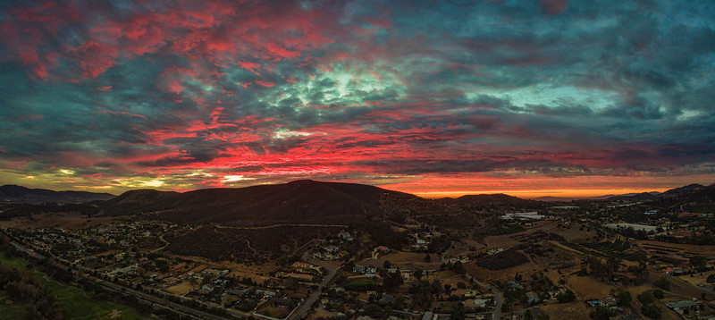 Fiery sunset in San Marcos