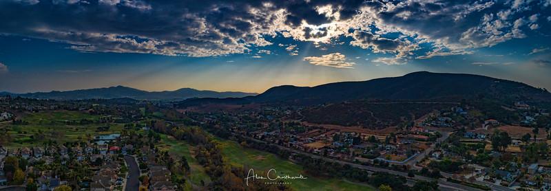 Cloudburst over the Twin Oaks Valley