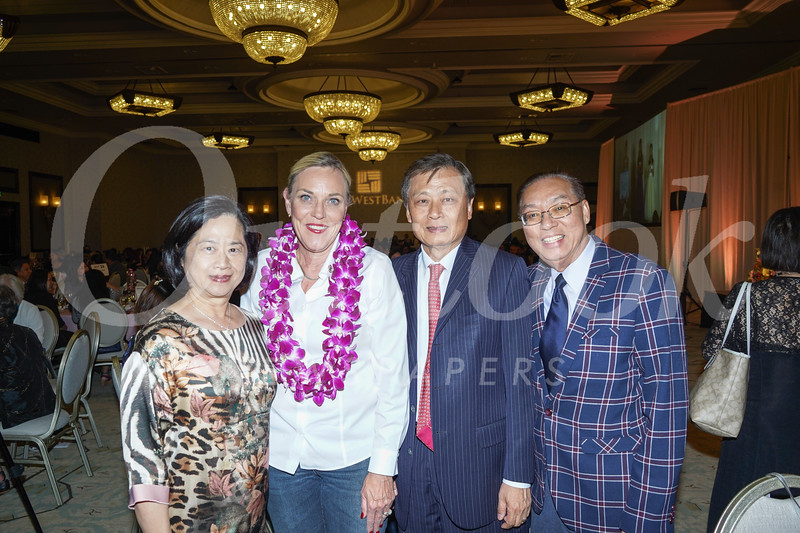 Ivy Sun, Kathryn Barger, Dr. Richard Sun and Raymond Cheng