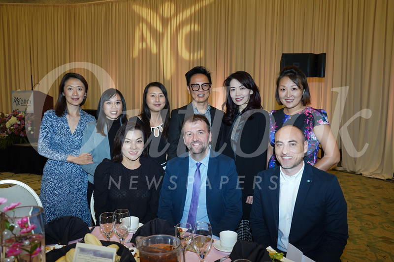 Dorothy Chan (front row, from left), Chad Cipoletti and Dominick Ricci. Back: Li Zhang, Annabell Liao, Hanh Nguyen, Andy Phan, Emily Wang and Amanda Ma.