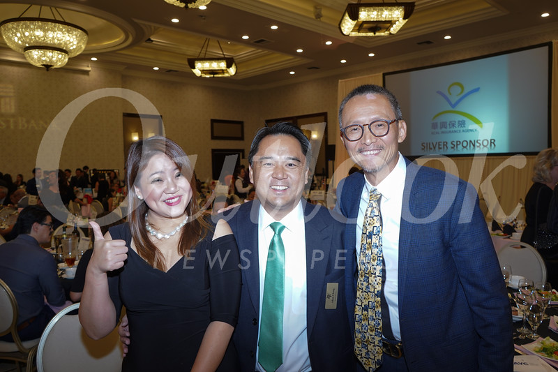 Samantha and Adam Chang with S.F. Lee