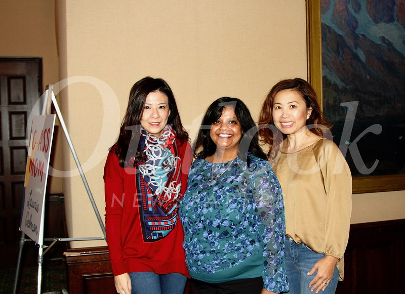Lindsey Huang, Sri Abboy and Susan Lim