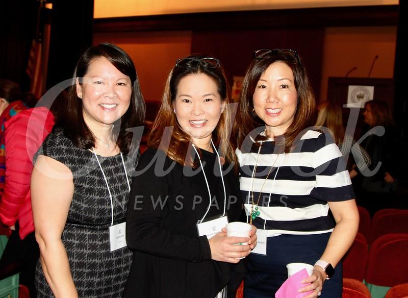 Elaine Pan, Janice Segimoto and Tiffany Chang-Sahakian