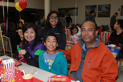 9694 Anna, Angela and Adam Li with Ameen Ahmad