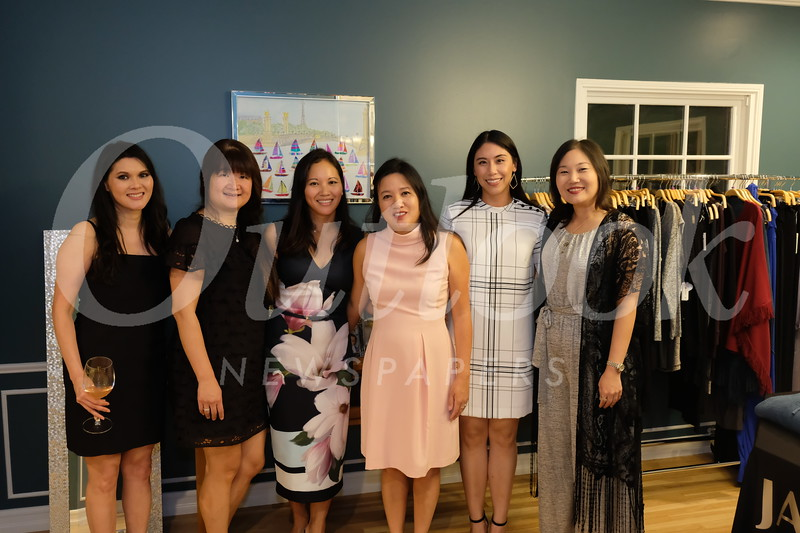 Event hosts Jameela Gabriel, Lisa Wang, Cathy Newton, Jacki Chuang, Lina Wu and Christine Song