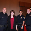 Sgt. Robert Matthews, Frank Calistro, Rita Rodriguez and Police Chief John Incontro