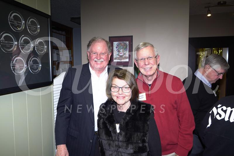 Bob Houston with Liz and Dennis Kneier