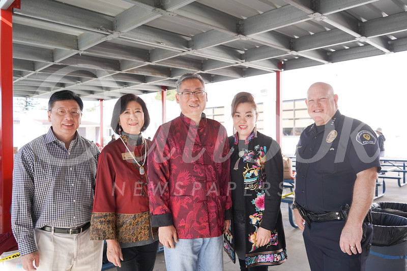 Johnson Shyong, Nancy Lee, Shawn Chou, Luyi Khasi and Police Chief John Incontro