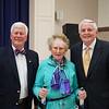 President Richard Pearson, speaker Barbara Beskind and James Angelos