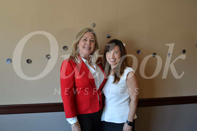 Mayor Gretchen Shepherd Romey with emcee Gloria Wong