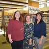 Library Trustee Liz Hollingsworth, City Councilwoman Susan Jakubowski and City Manager Marcella Marlowe