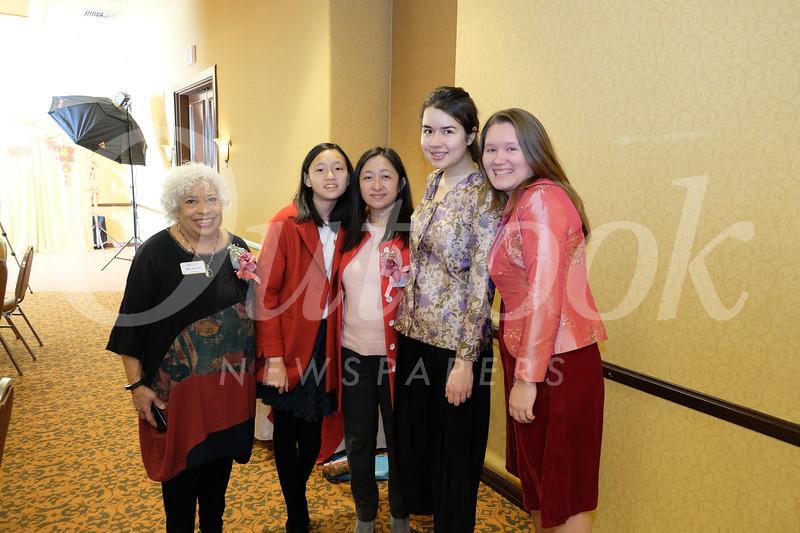 Molly Woodford, Elin Jiang, Sandra Chen, Melissa Brassard and Zellie Owen