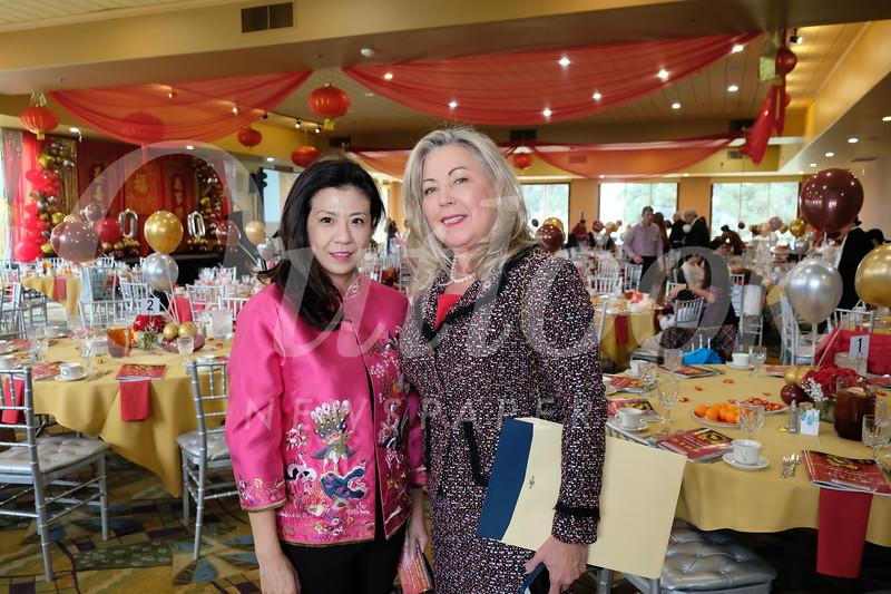 Lindsey Huang and Mayor Gretchen Shepherd Romey