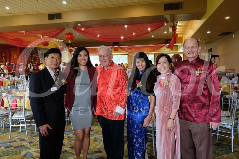Ambrose Chan, Stephanie Cao, Steve Dorsey, Sophia Chan, East West President Annie Brassard and Paul Brassard