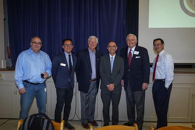 Kelly Ryan, Bong Bringas, Dick Pearson, featured speaker Oscar Wei, Jim Angelos and David Wang