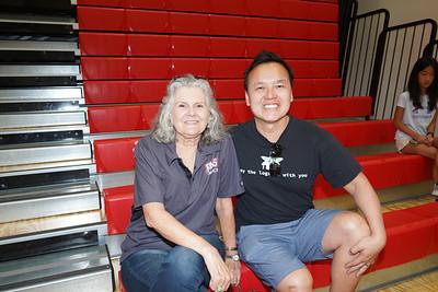 HMS Principal Alana Fauré and Gene Chuang