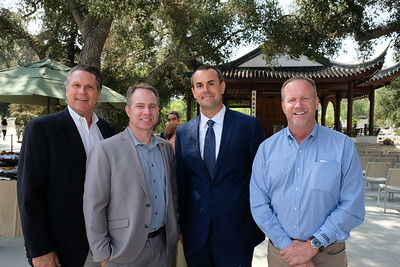From construction firm Snyder Langston: Peter Tuma, Jason Rich, Lee Watkins and David Stelter.