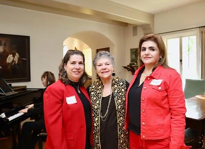 Susan Kindett, Marilyn Peck and Nora Hoyos