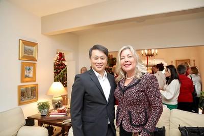 Mayor Steven Huang with Incoming Mayor Gretchen Shepherd Romey