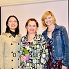 Ming Jiang, new member Shirley Jagels and Debra Spaulding