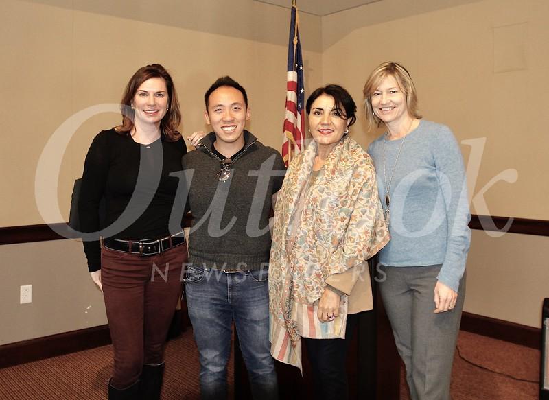 Birgit Woodward, Brandon Tam, Shana Bayat and Debra Spaulding