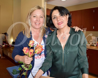 President Gretchen Shepherd Romey and Shana Bayat