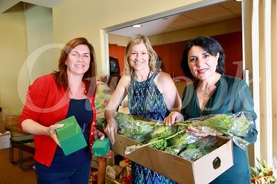 Birgit Castleman with workshop chairs Debra Spaulding and Shana Bayat