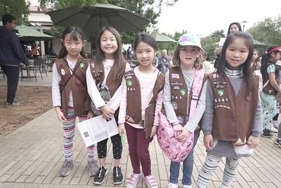 IMG_0013 Troop 6341 Aura Wang, Queenie Zhu, Emily Guo, Gerorgia Clougherty and Evelyn Ho