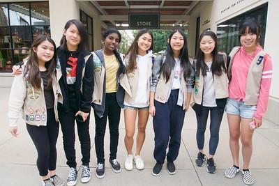 IMG_0010 Troop 3521 Lindsey Segimoto, Caroline Louie, Aparna Venkat, Lauren Nguyen, Selene Yung and Samantha Chang