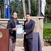 Assemblyman Ed Chau presents a Certificate of Recognition to Mayor Steven Huang from the city of San Marino.