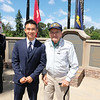 San Marino High School senior Andrew Liu, who will be attending the Air Force Academy, poses with World War II veteran Steve Antosy.