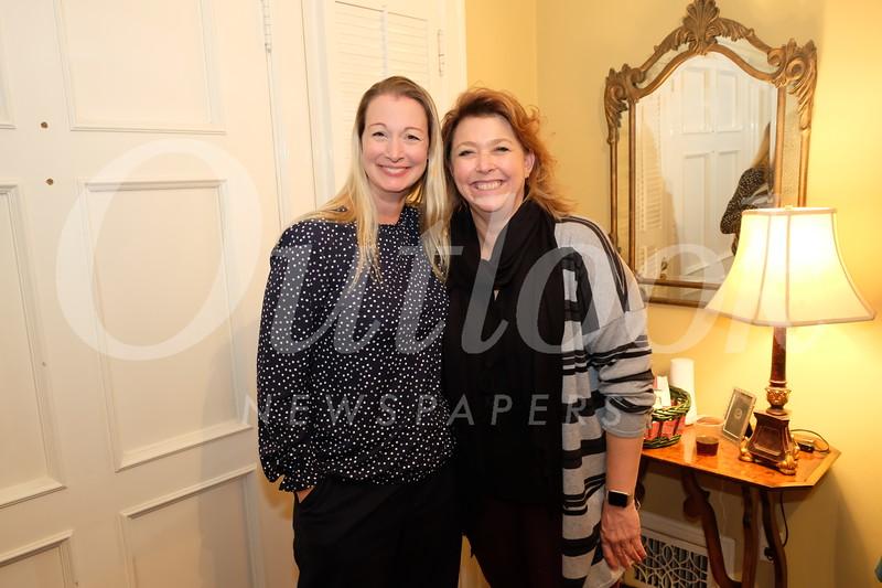 President Cori Solan and event host Jennifer Rogers