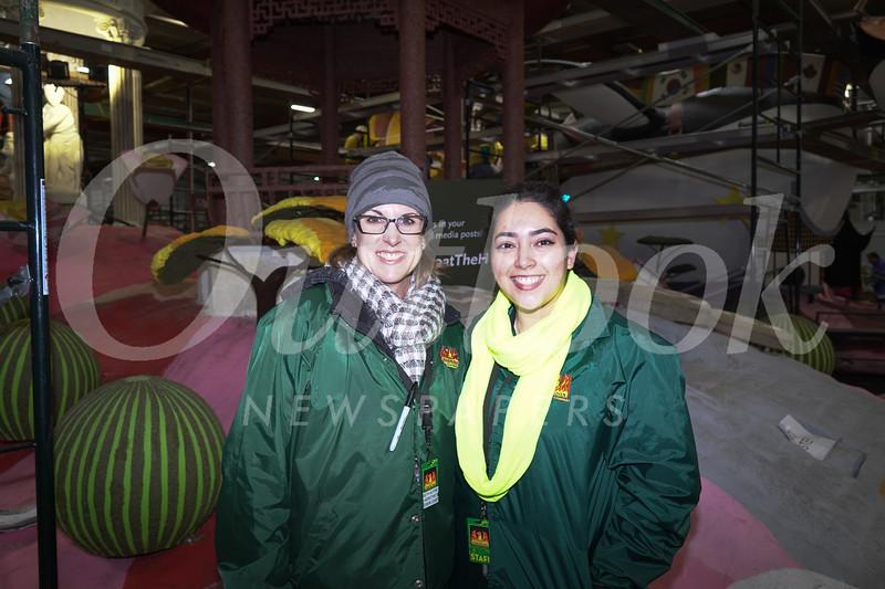 Assistant Crew Chief Beth Alpine and Crew Chief Lorena Reyes