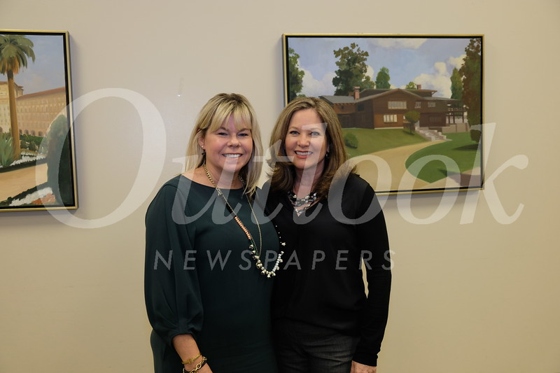President Alison McCrary and guest speaker Nancy DelSanto
