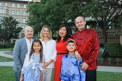 Peter, Anneka and Catherine Shiao with Annie, Paul and Peter Brassard