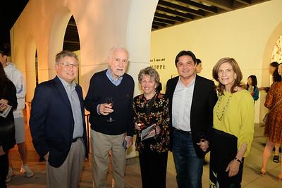 Library Foundation President Hal Suetsugu, Jim Fitzgerald, Lois Derry, Calvin Lo and Debra Sadun