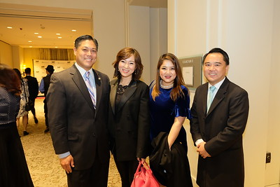 San Gabriel Mayor Jason Pu, Karen Yu, Samantha Yu and Adam Chang