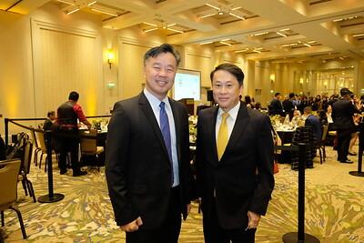 Alan Chen and San Marino Mayor Steven Huang
