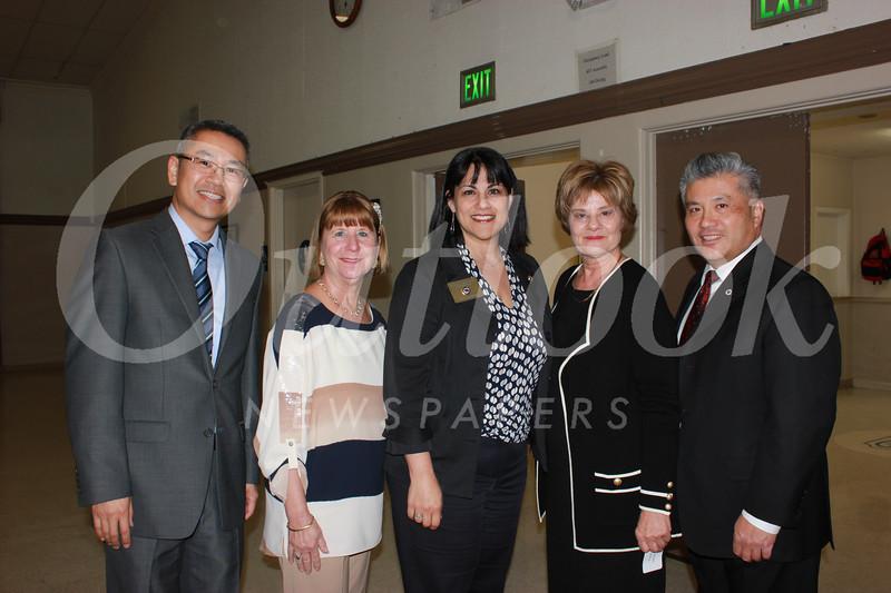 Michael Lin, Marlene Evans, Marcella Marlowe, Susan Jakubowski and Frank Chen