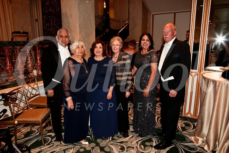 Theodore and Maria Torres, Martha Tague, and Nancy, Christina and Howard Pink